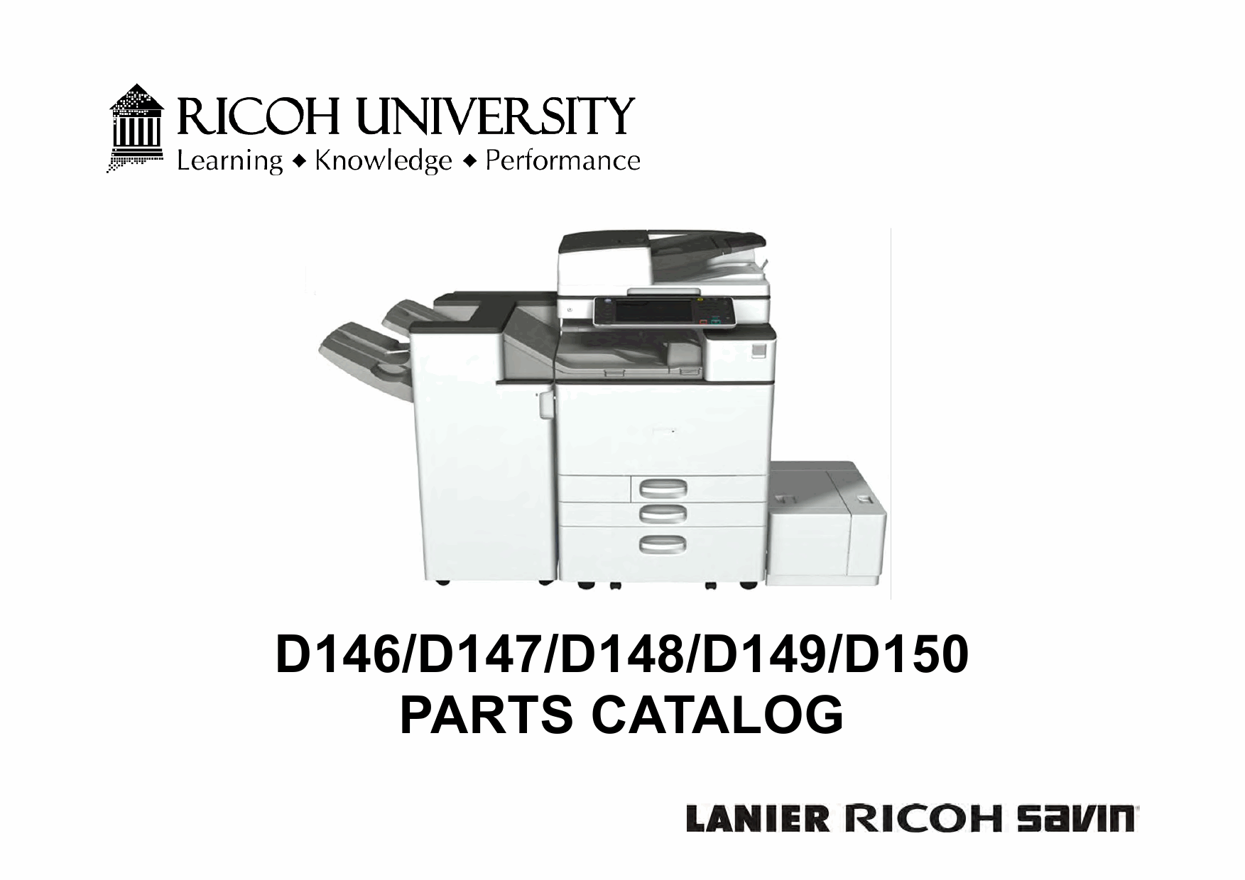 RICOH Aficio MP-C3003 C3503 C4503 C5503 C6003 D146 D147 D148 D149 D150 Parts Catalog-1